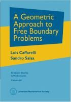 L Caffarelli and S Salsa, A Geometric Approach to Free Boundary Problems