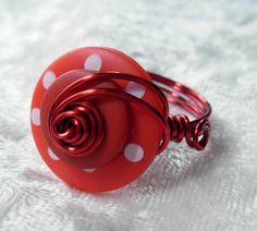 Wire Wrapped Button Ring KIT