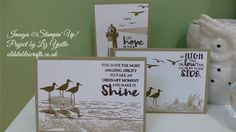 Stampin Up Tutorials - #67 High Tide Note Cards