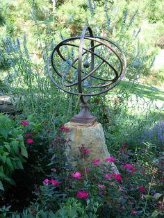 A garden armillary~