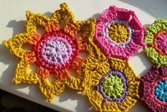 Magical Flower Motif | AllFreeCrochetAfghanPatterns.com • ❁ Teresa Restegui http://www.pinterest.com/teretegui/ •✿ •❀