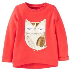 Just One You™Made by Carter's® Girls' Long-sleeve Owl Top - Red