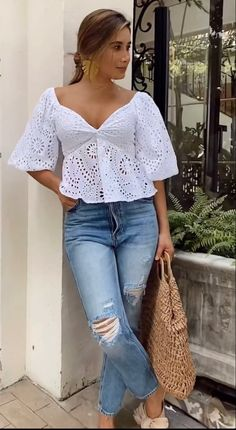 Summer Diy, Summer Wear, Eva Longoria, Pregnancy Outfits, Summer Outfits Women, Casual Looks, Casual Wear, Ideias Fashion, Cool Outfits