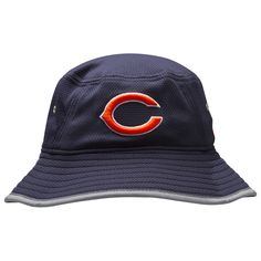 9f35def88c1 Chicago Bears Navy and Grey 2016 Training Camp Bucket Hat by New Era   Chicago