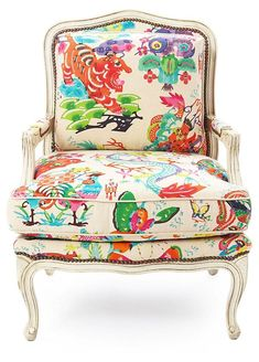 Best of Chinoiserie Chic! Beautiful Pieces using Large Pattern Chinoiserie Fabrics. | follow rickysturn/home-styling
