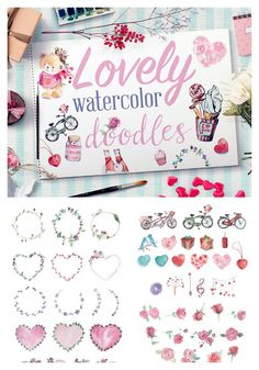 Lovely Water Color Doodles for Bible Journaling or Digital Scrapbooking