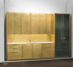 Amuneal Debuts Brass Kitchen in Interior Design Magazine. Interior Design Magazine, Brass Kitchen, Kitchen And Bath, Hidden Kitchen, Round Kitchen, Kitchen Hardware, Kitchen Modern, Lofts, Interior Exterior