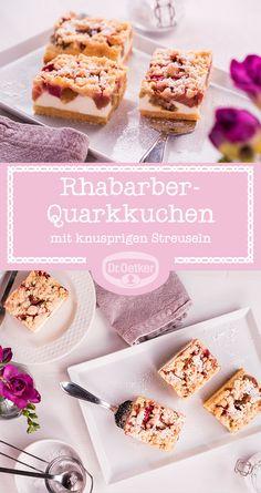 Rhabarber-Quarkkuchen: Rhabarber ist gut, Rhabarber mit Quark noch besser und Rhabarber mit Quark und Streuseln am besten