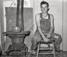"""October 1938. """"Young farmer of Jefferson County, Kansas."""""""