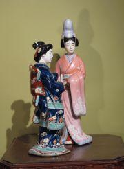 Zwei Geisha Japan Porzellan