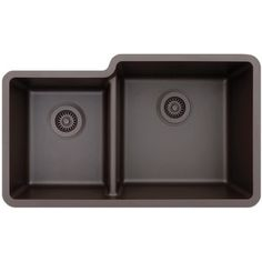 Shop for Lexicon Platinum Offset Double Bowl Quartz Composite 32 x 19 x 7-1/2 / 9 in. D Kitchen Sink. Get free shipping at Overstock.com - Your Online Home Improvement Outlet Store! Get 5% in rewards with Club O! - 18544755