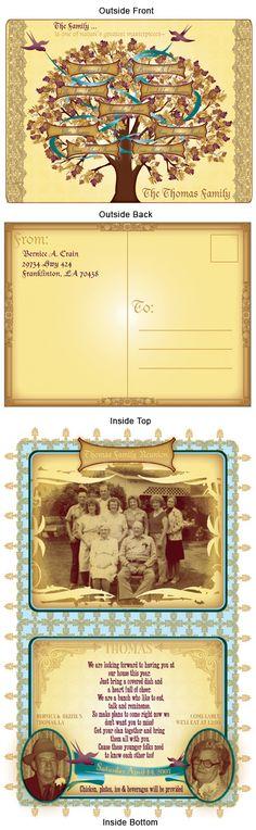 Family Reunion Invite - I designed this for a family reunion for my family. It was well received : )
