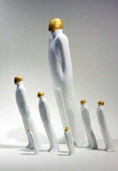 Tanaka Kazuhiko.Stone Clay Miniture Sculpture.
