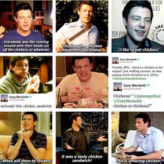 Cory Monteith & chicken
