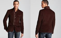 John Varvatos Star USA Zip Front Soft Blazer