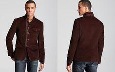 John Varvatos Star USA Zip Front Soft Blazer