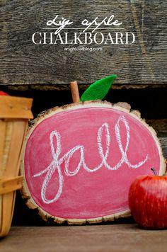 DIY Apple Chalkboard - fun craft for a teacher gift or Fall decor!