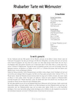 Rhabarber Tarte mit Webmuster - Rhubarb Lattice Tart | Das Knusperstübchen