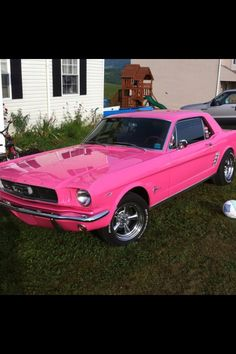 Classic Pink Mustang...yes please!