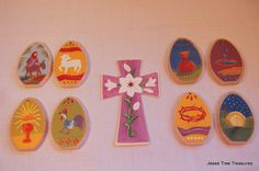 Holy Week Easter Ornaments WITH TREE by JesseTreeTreasures on Etsy, $28.95