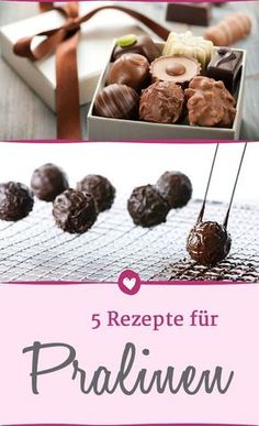 praline recipes to quickly prepare truffles and Co. yourself 5 Pralinen-Rezepte, um Trüffel und Co. schnell selber zu machen That's the way to go just do it yourself and away, geschenkeausderküche - praline recipes to quickly prepare tru. Chocolate Bonbon, Chocolate Candy Recipes, Chocolate Sweets, Magic Chocolate, Chocolate Truffles, Chocolat Valrhona, Praline Recipe, Cinnamon Candy, Homemade Candies