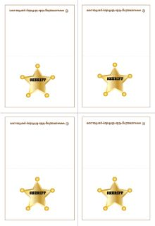 FREE Sheriff's Birthday Gift Cards