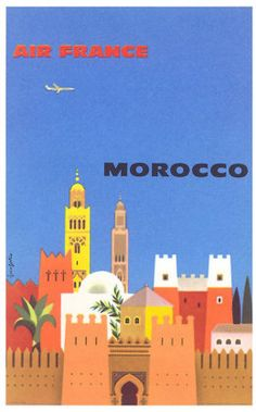 Great vintage poster! - morocco poster