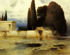 Ferdinand Keller - A Classical Landscape (1902)