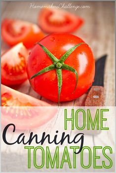 Easy Home Canning Tomatoes with roaster pan