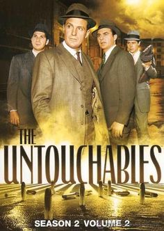HE UNTOUCHABLES (Desilu, 4 seasons, 1959-1963), is an American crime drama, based on the memoir, of the same name, by Eliot Ness and Oscar Fraley. The plot fictionalises the experiences of Eliot Ness, a real-life Prohibition agent, that he fought crime in Chicago during the 1930s, with the help of a special team of agents, chosen for their courage and incorruptibility, nicknamed the Untouchables. Awards: Won 2 Primetime Emmys. Another 2 wins & 7 nominations.