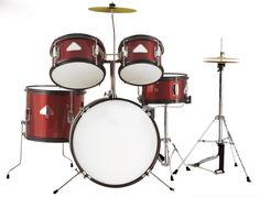 Red color 5-pc Junior Drum set Musical instruments Free shipping