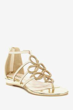 Bucco Bims Embellished Thong Sandal