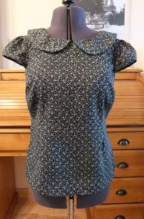 Ozzy Blackbeard: Sewaholic Alma Blouse No3 with capped sleeves and Peter Pan collar