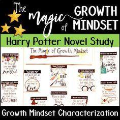Harry Potter Growth Mindset Novel Study In 2020 Harry Potter Classroom Novel Studies Growth Mindset Activities