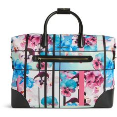 Vera Bradley Travel Duffel Bag in Exotic Floral with Black Trim ($228) ❤ liked on Polyvore featuring bags, luggage and exotic floral with black trim