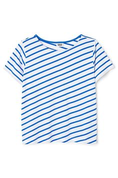 The Era Stripe Tee has a wide fit, arelaxedround neckand…