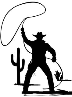 Lasso: Great for Cowboys…..Not for AutoCAD! Silhouette Art, Silhouette Cameo Projects, Animal Silhouette, Stencil Art, Stencils, Cowboy Theme Party, Western Crafts, Wood Burning Patterns, Cowboy Art