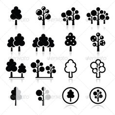 Trees, Forest, Park Vector Icons Set   #GraphicRiver         Nature, trees icons set isolated on white  FEATURES:   100% Vector Shapes  All groups have names  All elements are easy to modify – you can change coulours, size  Pack include version AI, EPS, JPG                      Created: 11 December 13                    Graphics Files Included:   JPG Image #Vector EPS #AI Illustrator                   Layered:   Yes                   Minimum Adobe CS Version:   CS             Tags      app…