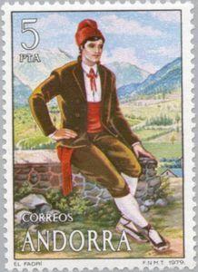 Sello: Costumes (Andorra (Administración Española)) (Costumes) Mi:AD-ES 121,Sn:AD-ES 109,Yt:AD-ES 114,Edi:AD-ES 123