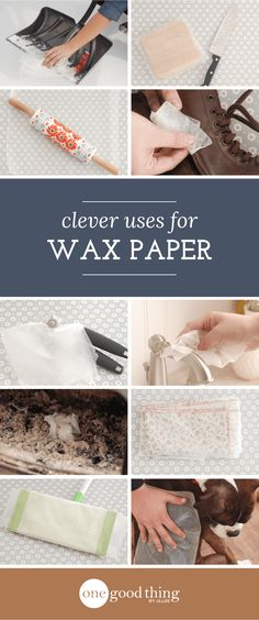16 Smart Uses For Wax Paper - One Good Thing by JilleePinterestFacebookPinterestFacebookPrintFriendly