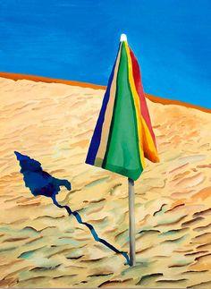 David Hockney Beach Unmbrella | Etsy Artwork, Umbrella Art, Art Movement, Art, David Hockney Paintings, Art Block, Pop Art Movement, Painting, Dark Fantasy Art