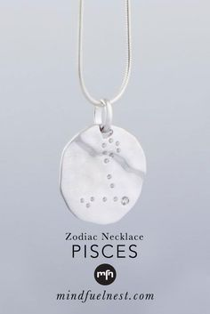 These glossy pendants feature the constellations for each of 12 zodiac signs. Meaningful Jewelry, 12 Zodiac Signs, Zodiac Constellations, Inspirational Message, Pisces, Dog Tag Necklace, Pendants, Silver, Money