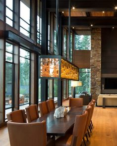 Martis Modern Mountain Home by Ward Young Architecture Dream Home Design, Modern House Design, My Dream Home, Home Interior Design, Interior And Exterior, Camo Living Rooms, Style At Home, Modern Mountain Home, Aspen