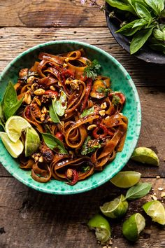 Saucy Thai Summer Noodle Stir Fry with Sesame Peanuts. - Half Baked Harvest Asian Recipes, Healthy Recipes, Ethnic Recipes, Healthy Eats, Ramen, Half Baked Harvest, Sweet And Spicy, The Fresh, Stir Fry