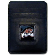 NCAA Oregon State Beavers Money Clip/Cardholder by Siskiyou. $17.99. Our Oregon St. Beavers Executive college Money Clip/Card Holders won't make you choose between paper or plastic because they stow both easily. Features our sculpted and enameled school logo on black leather. Check out our entire line of wholesale leather checkbooks!