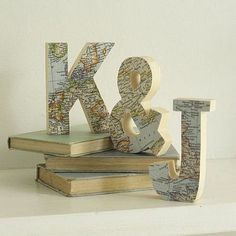 Map Letters (in our initials :)
