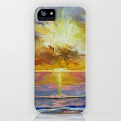Caribbean Sunset iPhone Case by Michael Creese