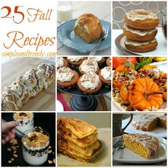 25 Fall Recipes - Simple and Trendy