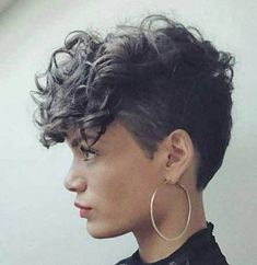 15 Effective Styles for Short Curly Hair: #13. Long Top Curly Pixie; #shorthairstyles; #pixiehair