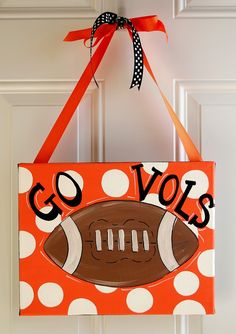 Tennessee Vols Football Hand Painted Canvas Wall Art